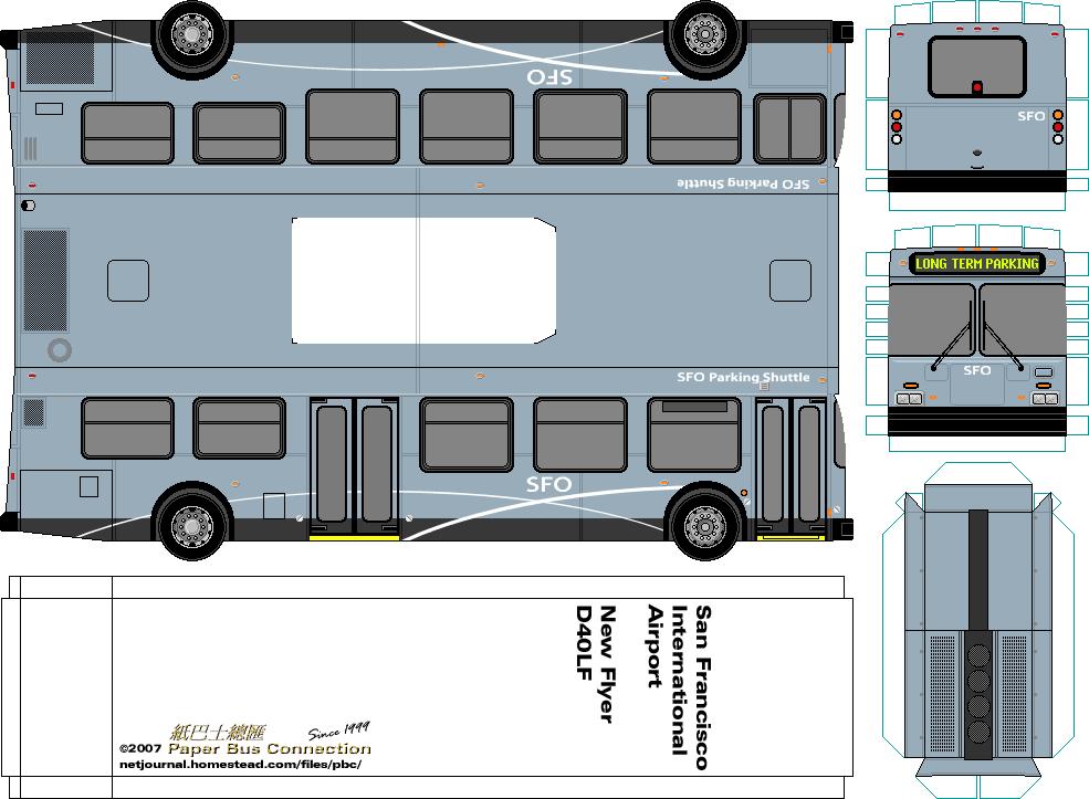 United States 美國 – Paper Bus Connection – 紙巴士總匯